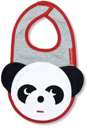 Olive & Moss Perry The Panda Bib - bib-Panda - Grey/White/Black/Red 0-24 Months