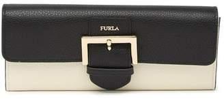 Furla Flo XL Buckle Flap Leather Wallet