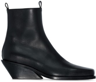 Ann Demeulemeester Slanted Wedge Ankle Boots