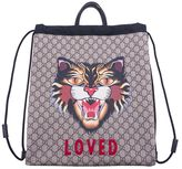 Gucci Angry Cat Print Backpack