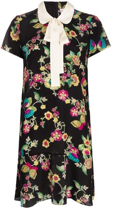 RED Valentino Floral Butterfly-Print Dress