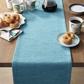 Crate & Barrel Grasscloth Aqua Blue Table Runner