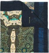 Etro multi-print scarf - men - Cotton/Silk - One Size
