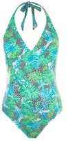 Topshop Geo Leaf Maternity One-Piece Swimsuit