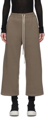 Rick Owens Tan Drawstring Lounge Pants