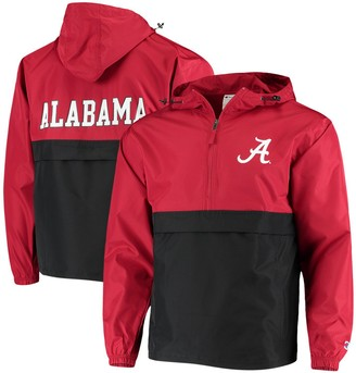 Champion Men's Crimson Alabama Crimson Tide Colorblock Packable Half-Zip Jacket