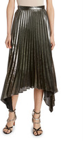 Altuzarra Lame Plisse Pleated Handkerchief Skirt