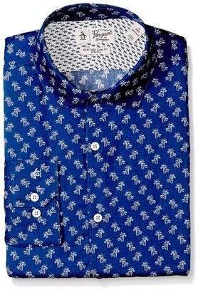 Original Penguin Men's Slim Fit Spread Collar Fashion Dress Shirt