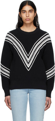 Rag & Bone Black Alps Crewneck Sweater