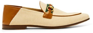 Gucci Brixton Collapsible-heel Canvas Loafers - Beige