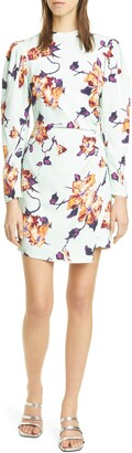 A.L.C. Jane Floral Leg of Mutton Long Sleeve Minidress