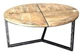 Asbury Distressed Coffee Table Loon Peak