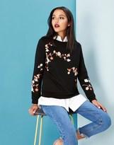 Yumi Oriental Blossom Embroidered Sweatshirt