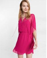 Express lace-up caftan dress