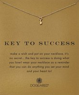 "Dogeared Reminder ""Key To Success"" -Plated Sterling Silver Pendant Necklace, 18"""