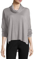 Eileen Fisher Cowl-Neck Box Top, Plus Size