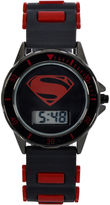 DC COMICS DC Comics Batman vs. Superman LCD Dial Black and Red Silicone Strap Watch