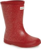 Hunter 'First Classic' Glitter Rain Boot (Walker, Toddler, Little Kid & Big Kid)