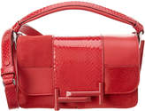 Tod's Double T Leather & Snakeskin Satchel