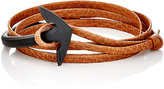 Miansai Men's Anchor Half-Cuff Bracelet-BROWN