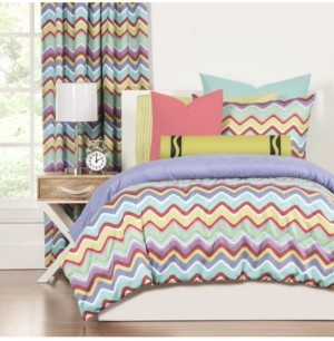 Crayola Mixed Palette 6 Piece Full Size Luxury Duvet Set Bedding