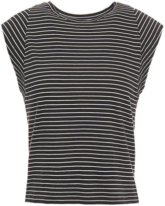 Frame Striped Pima Cotton-jersey Top