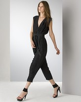 Black Silk High Waisted Jumpsuit