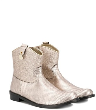MonnaLisa Snake-Effect Ankle Boots