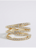 M&S Collection Gold Plated Multi Band Ring