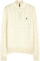 Polo Ralph Lauren Black Cable-knit Cotton Jumper