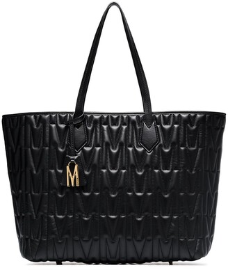 Moschino Monogram quilted leather tote bag