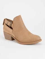 Soda Sunglasses Perforated Cutout Womens Booties