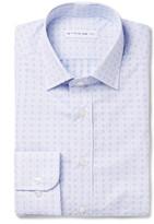 Etro - Blue Slim-fit Printed Cotton-poplin Shirt