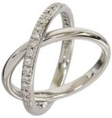 Mikimoto 0.18ct Diamonds 18K White Gold Ring Size 5.5