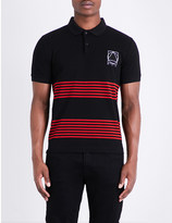 McQ by Alexander McQueen Panelled stripe cotton polo shirt