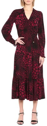 MICHAEL Michael Kors Ellip Printed Long-Sleeve Dress