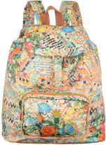 Oilily Blush Floral Diamond Backpack