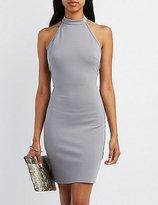 Charlotte Russe Mock Neck Halter Bodycon Dress