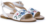 Ermanno Scervino floral embroidered sandals