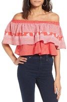 Faithfull The Brand Women's Sundown Off The Shoulder Crop Top