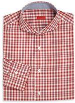 Isaia Plaid Long-Sleeve Shirt