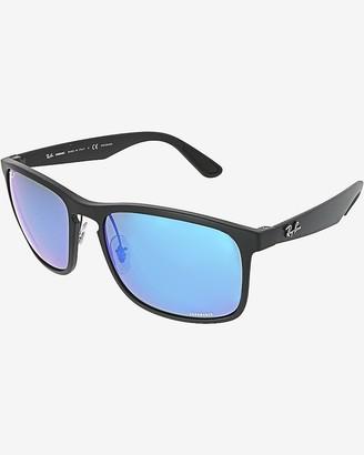 Express Ray-Ban Black Polarized Chromance Sunglasses