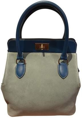 Hermes Toolbox Blue Leather Handbags