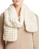 Maximilian Furs Mink Fur Popcorn Knit Scarf - Bloomingdale's Exclusive