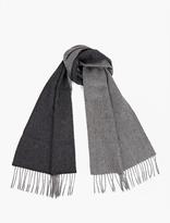 Lanvin Grey Contrasting Cashmere Scarf
