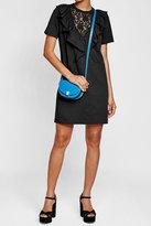 Sonia Rykiel Cotton Dress with Ruffled Lace Panel