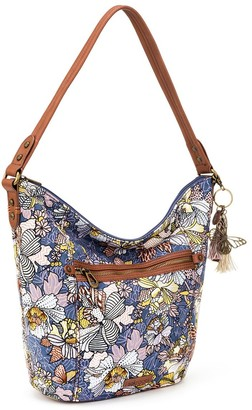 The Sak Sakroots Sequoia Printed Hobo with Critter Keychain