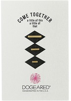Dogeared Come Together Smooth Bar Studs Earrings