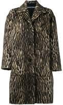 Rochas zebra print coat