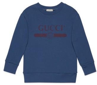 Gucci Children's logo print sweatshirt